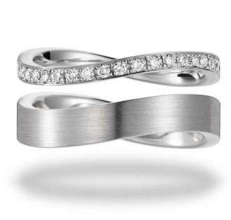 Eheringe mit Diamanten - Trauringe für die Unendlichkeit