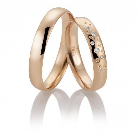 Filigrane Eheringe aus 333er Rotgold bei Brautpaaren sehr beliebt